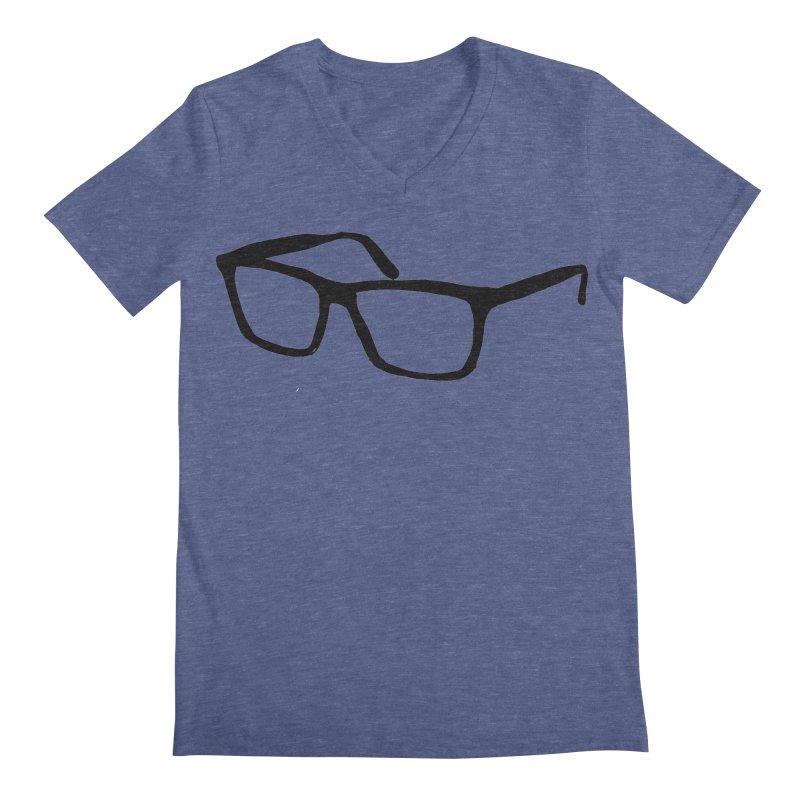 glasses Men's Regular V-Neck by sebastiansrd's Artist Shop