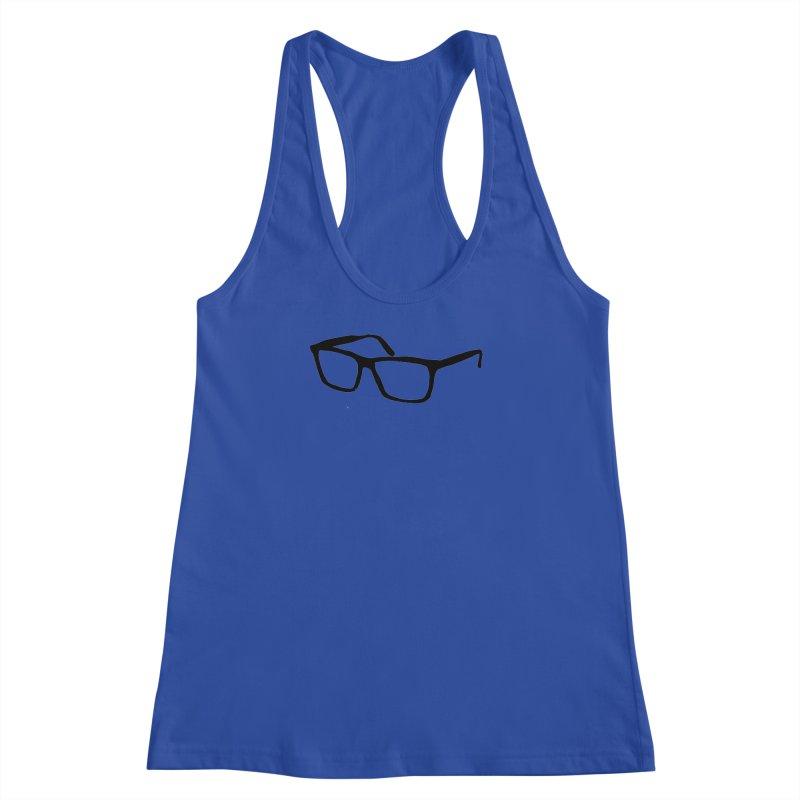 glasses Women's Racerback Tank by sebastiansrd's Artist Shop