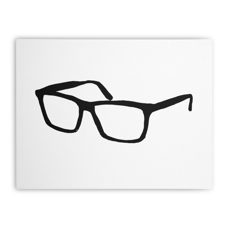 glasses Home Stretched Canvas by sebastiansrd's Artist Shop