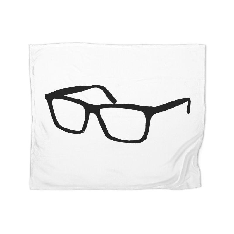 glasses Home Fleece Blanket Blanket by sebastiansrd's Artist Shop