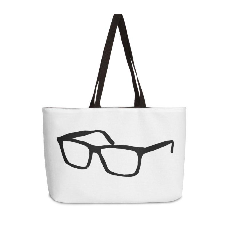 glasses Accessories Weekender Bag Bag by sebastiansrd's Artist Shop