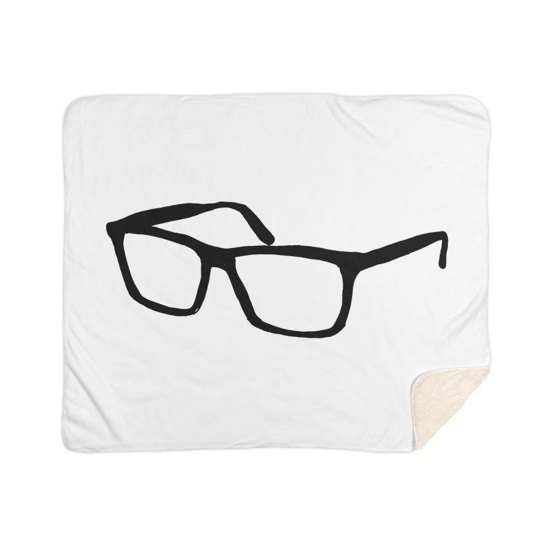 glasses Home Sherpa Blanket Blanket by sebastiansrd's Artist Shop