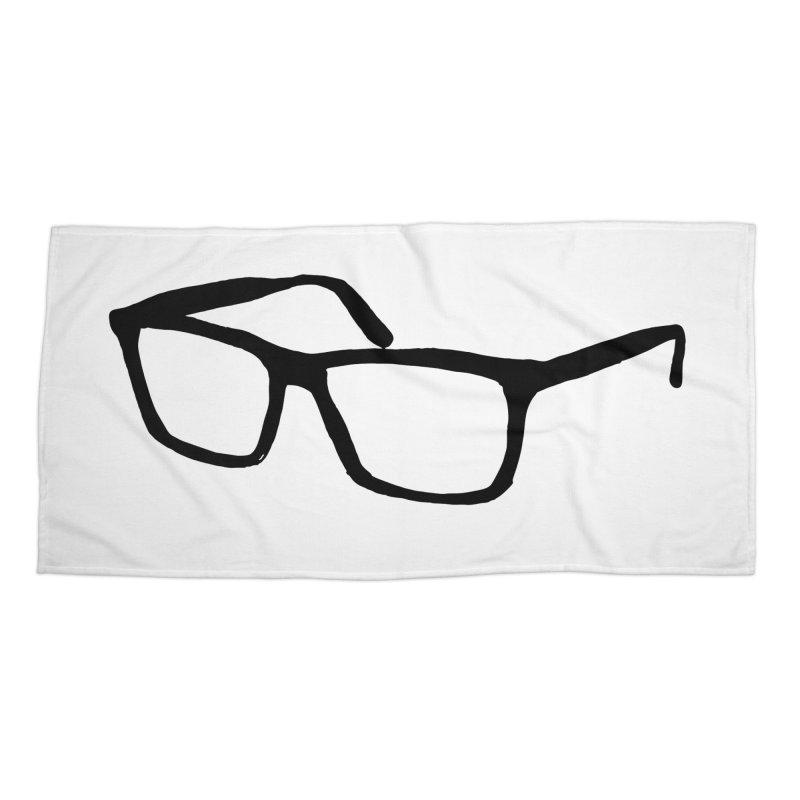 glasses Accessories Beach Towel by sebastiansrd's Artist Shop