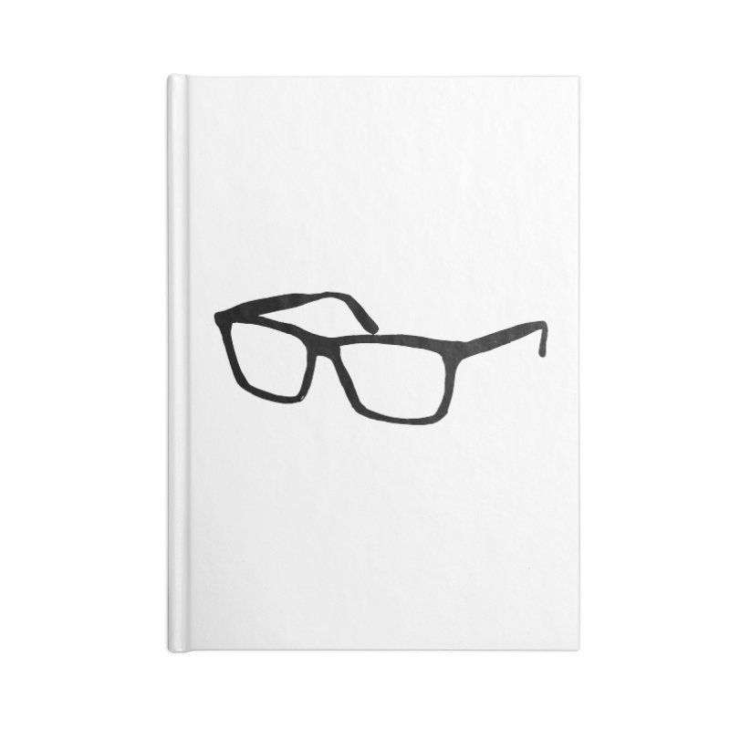 glasses Accessories Lined Journal Notebook by sebastiansrd's Artist Shop