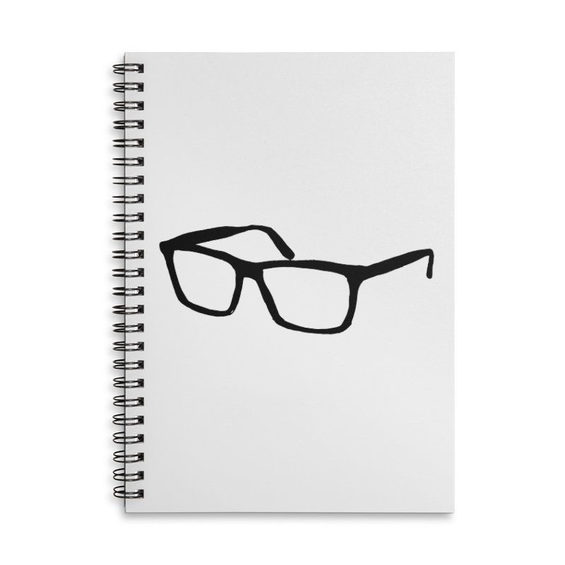 glasses Accessories Lined Spiral Notebook by sebastiansrd's Artist Shop