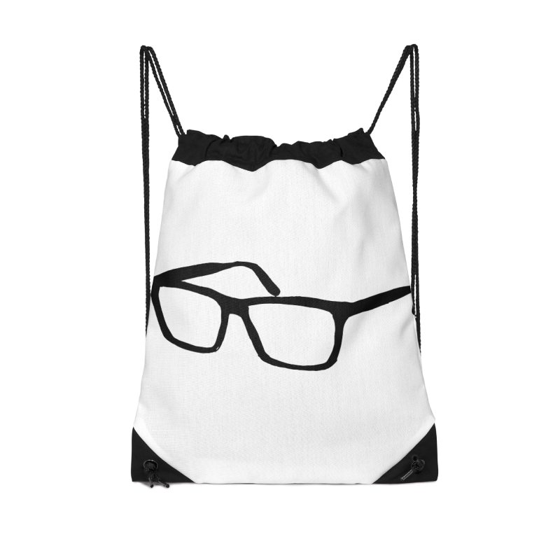 glasses Accessories Drawstring Bag Bag by sebastiansrd's Artist Shop
