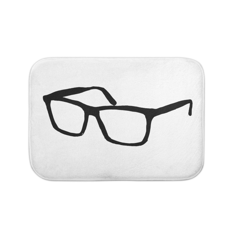 glasses Home Bath Mat by sebastiansrd's Artist Shop