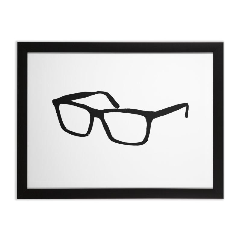 glasses Home Framed Fine Art Print by sebastiansrd's Artist Shop