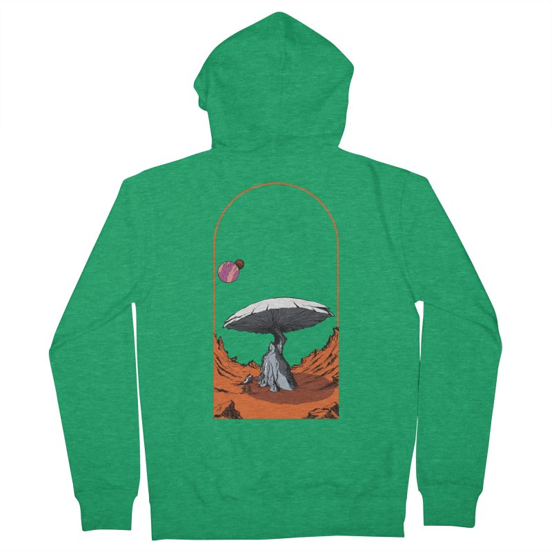 Marooned! Men's French Terry Zip-Up Hoody by Sebastian Illustation's Chop Shop