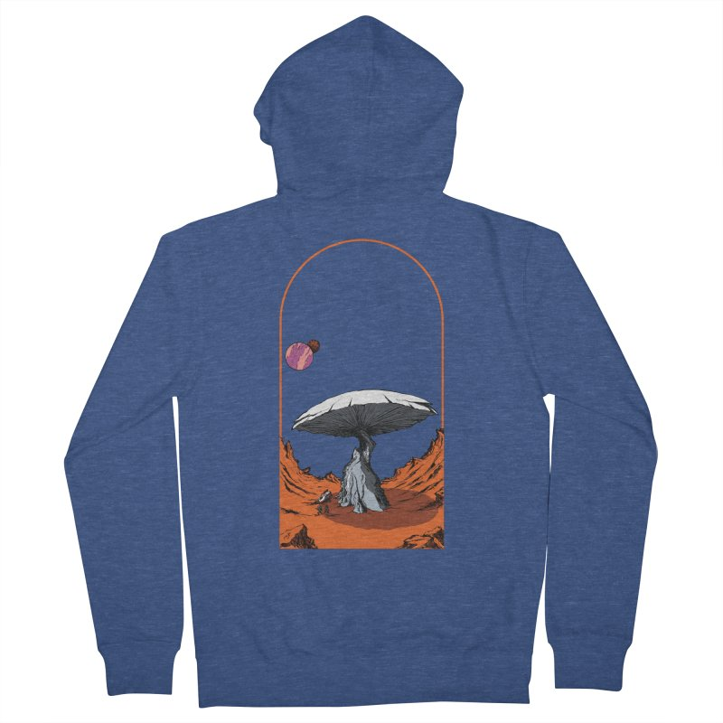 Marooned! Men's Zip-Up Hoody by Sebastian Illustation's Chop Shop