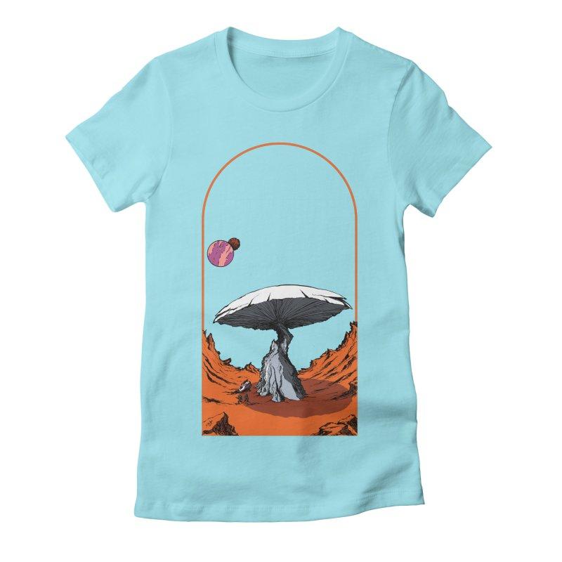 Marooned! Women's Fitted T-Shirt by Sebastian Illustation's Chop Shop