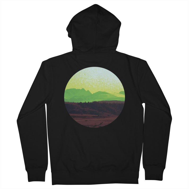 High Plains Drifter Women's French Terry Zip-Up Hoody by Sebastian Illustation's Chop Shop