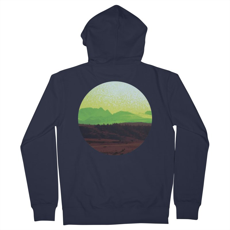 High Plains Drifter Men's Zip-Up Hoody by Sebastian Illustation's Chop Shop
