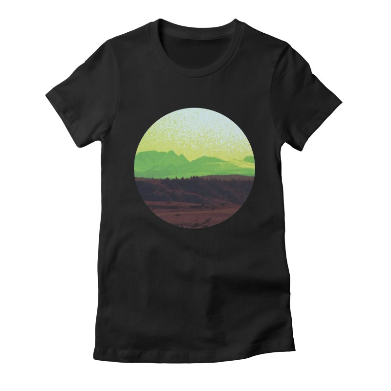 High Plains Drifter Women's Fitted T-Shirt by Sebastian Illustation's Chop Shop