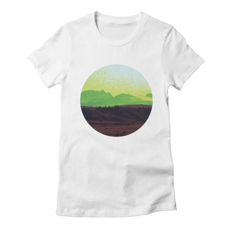 High Plains Drifter Women's Fitted T-Shirt by Sebastian Illustation's Chop Shop