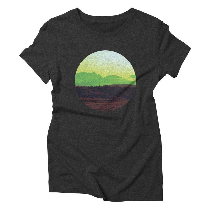 High Plains Drifter Women's Triblend T-shirt by Sebastian Illustation's Chop Shop