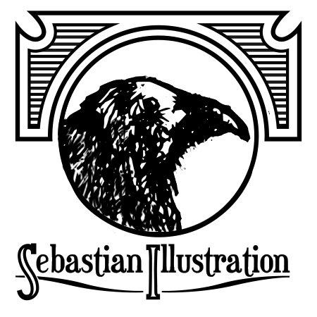 Sebastian Illustation's Chop Shop Logo
