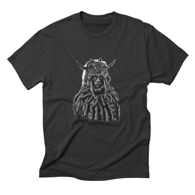 Apache chieftain Men's Triblend T-Shirt by sebrodbrick's Artist Shop