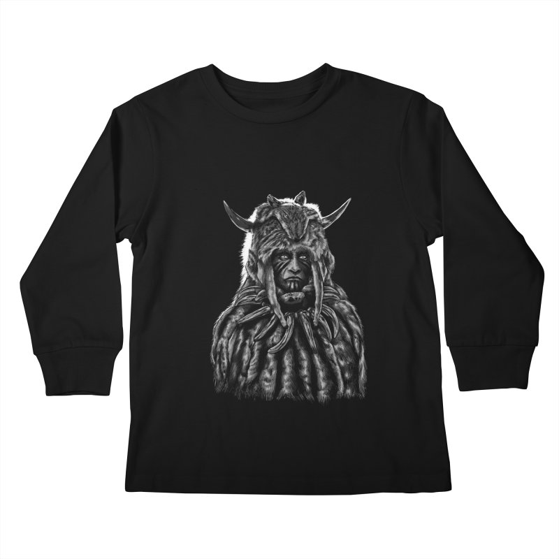 Apache chieftain Kids Longsleeve T-Shirt by sebrodbrick's Artist Shop