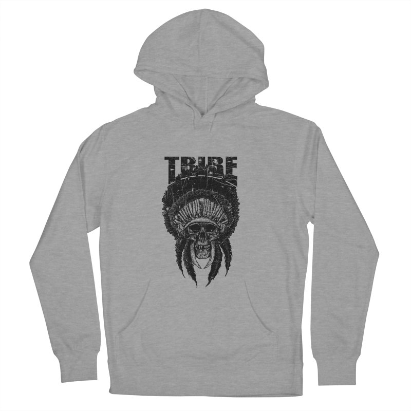 TRIBE Women's French Terry Pullover Hoody by sebrodbrick's Artist Shop