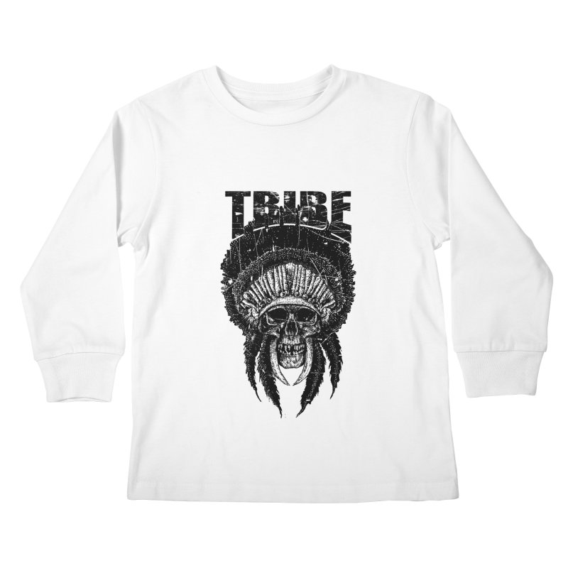 TRIBE Kids Longsleeve T-Shirt by sebrodbrick's Artist Shop