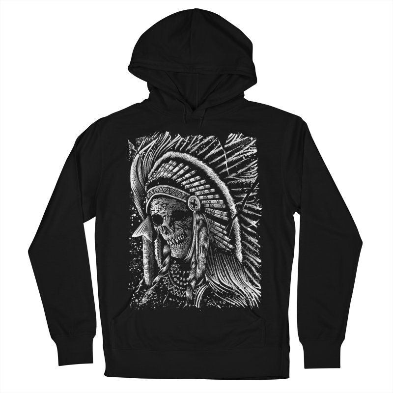Apache skull Women's French Terry Pullover Hoody by sebrodbrick's Artist Shop
