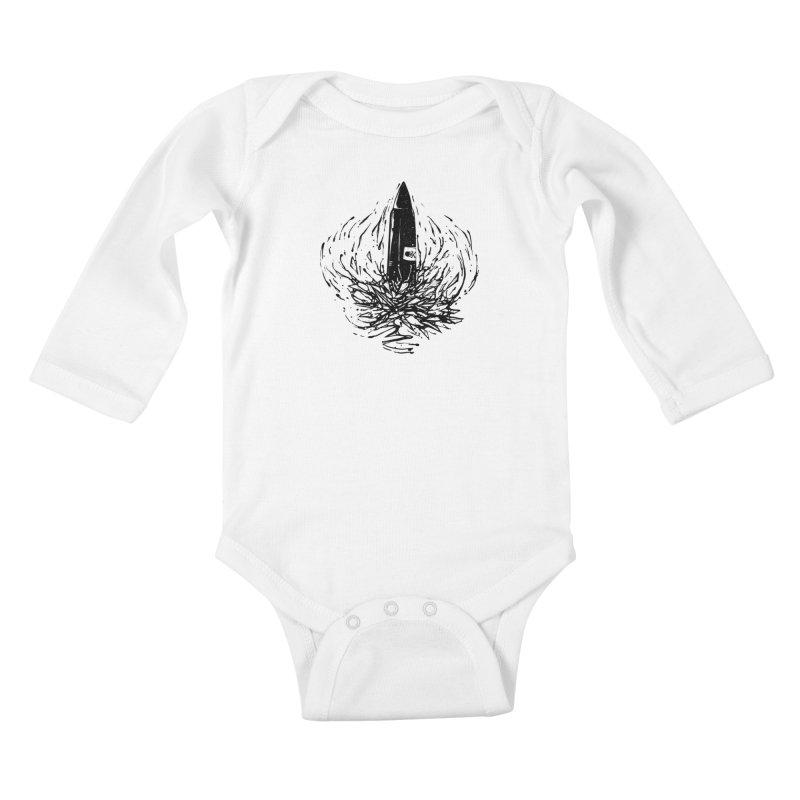 Black Bullet Kids Baby Longsleeve Bodysuit by sebrodbrick's Artist Shop