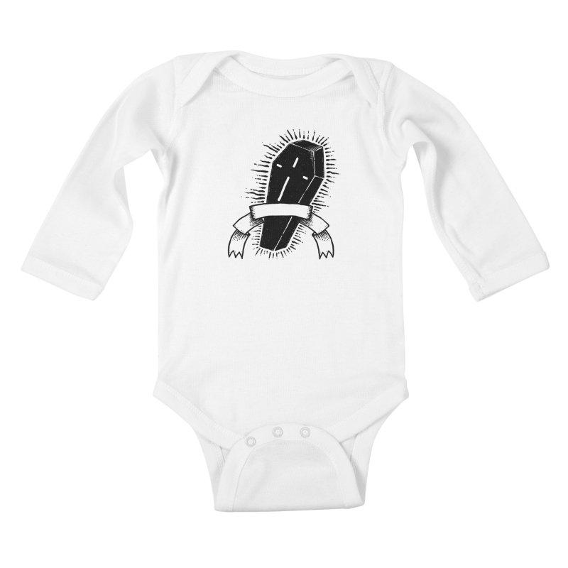 Black coffin mystery Kids Baby Longsleeve Bodysuit by sebrodbrick's Artist Shop