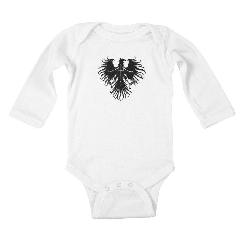 Black Eagle Kids Baby Longsleeve Bodysuit by sebrodbrick's Artist Shop
