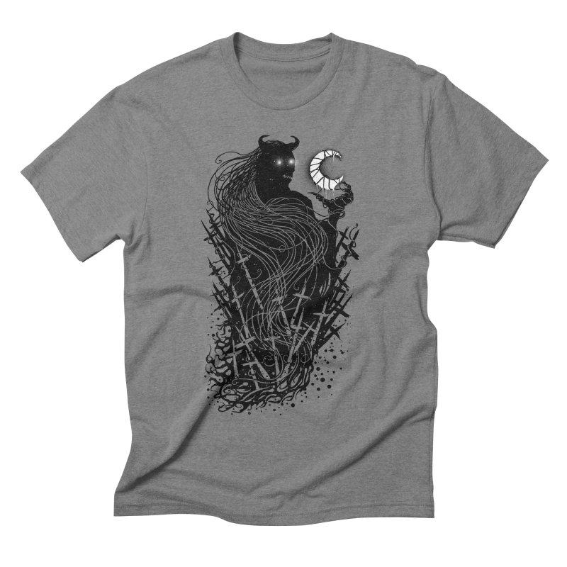 Black satan Men's Triblend T-Shirt by sebrodbrick's Artist Shop