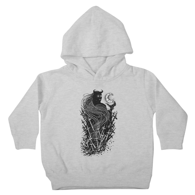 Black satan Kids Toddler Pullover Hoody by sebrodbrick's Artist Shop