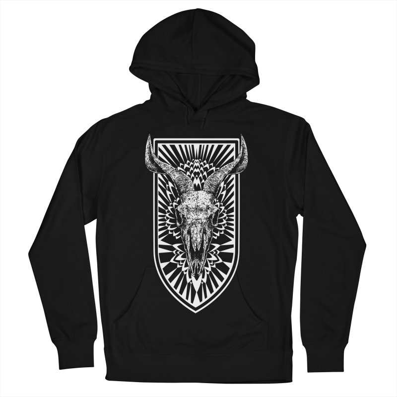 Blooming skull Women's French Terry Pullover Hoody by sebrodbrick's Artist Shop