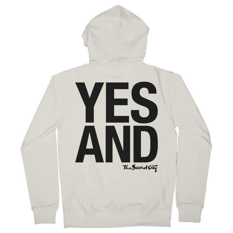 Yes, And Men's French Terry Zip-Up Hoody by The Second City