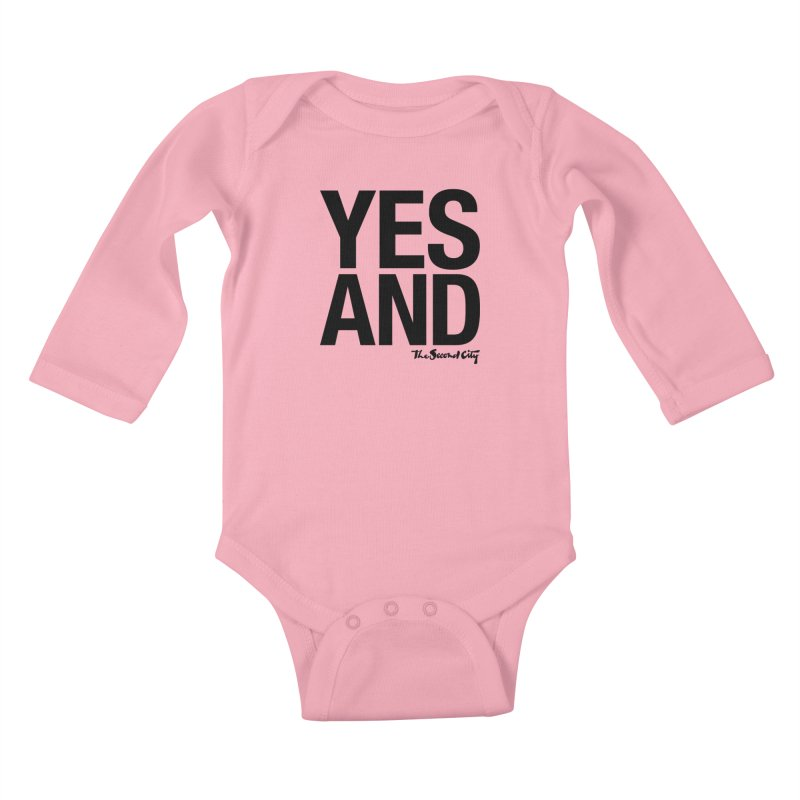 Yes, And Kids Baby Longsleeve Bodysuit by The Second City