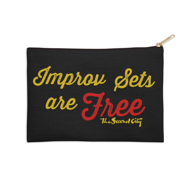 Improv Sets are Free Accessories Zip Pouch by The Second City