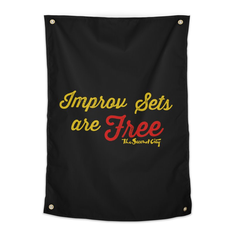 Improv Sets are Free Home Tapestry by The Second City