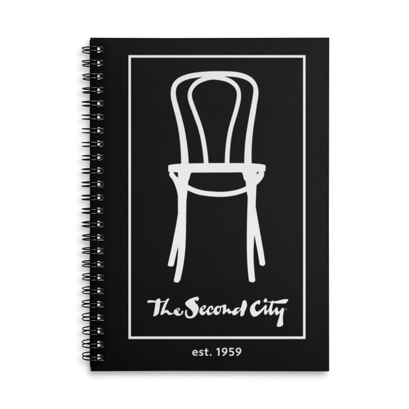 Card Game Logo Accessories Lined Spiral Notebook by The Second City