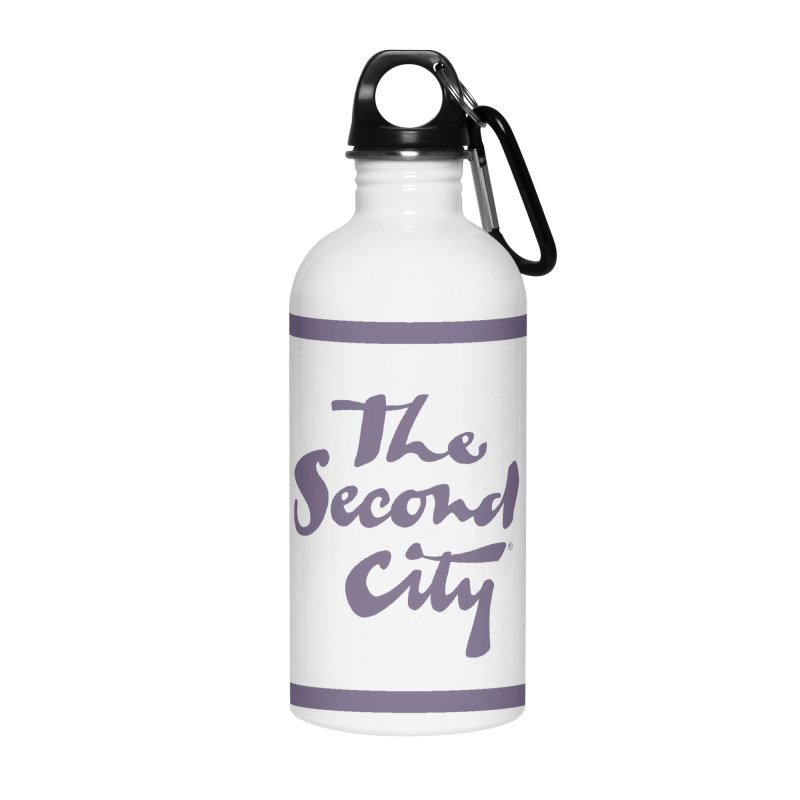 Stacked Lavender Accessories Water Bottle by The Second City