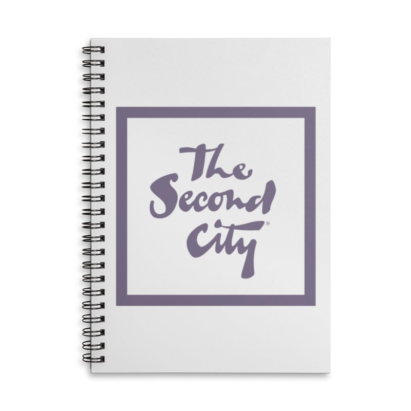 Stacked Lavender Accessories Lined Spiral Notebook by The Second City