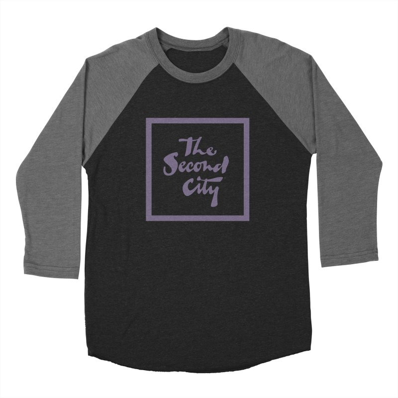 Stacked Lavender Men's Baseball Triblend Longsleeve T-Shirt by The Second City