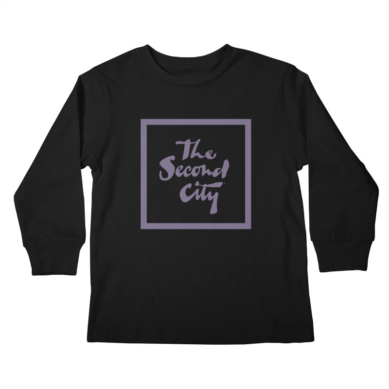 Stacked Lavender Kids Longsleeve T-Shirt by The Second City