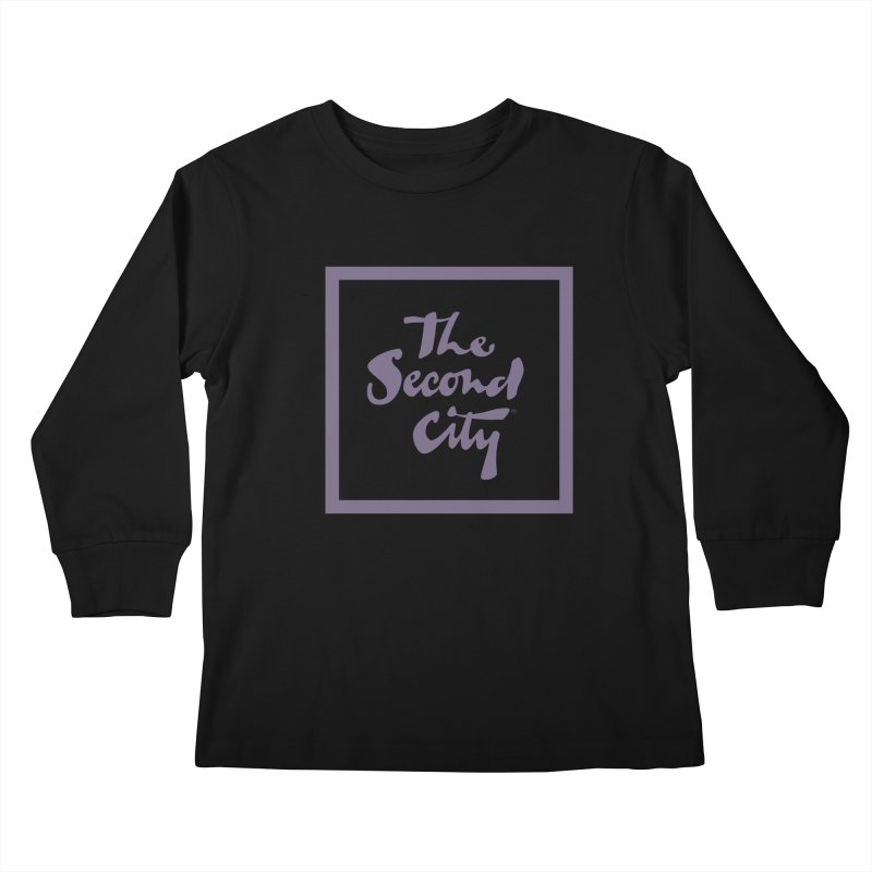 Stacked Lavender Kids Longsleeve T-Shirt by secondcity's Artist Shop