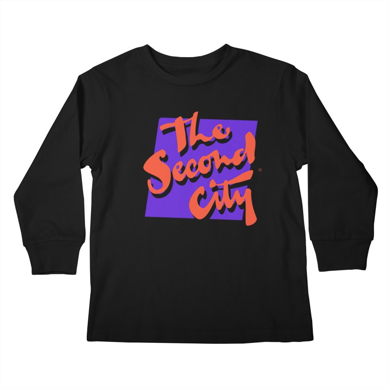 80s Stacked Kids Longsleeve T-Shirt by secondcity's Artist Shop
