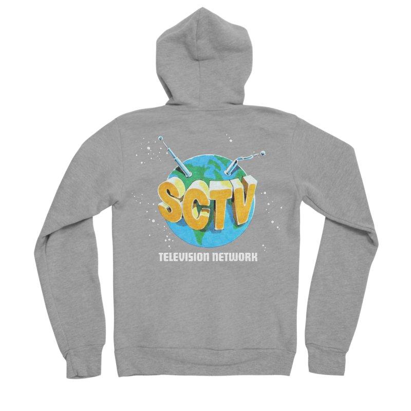 SCTV Global Men's Sponge Fleece Zip-Up Hoody by The Second City