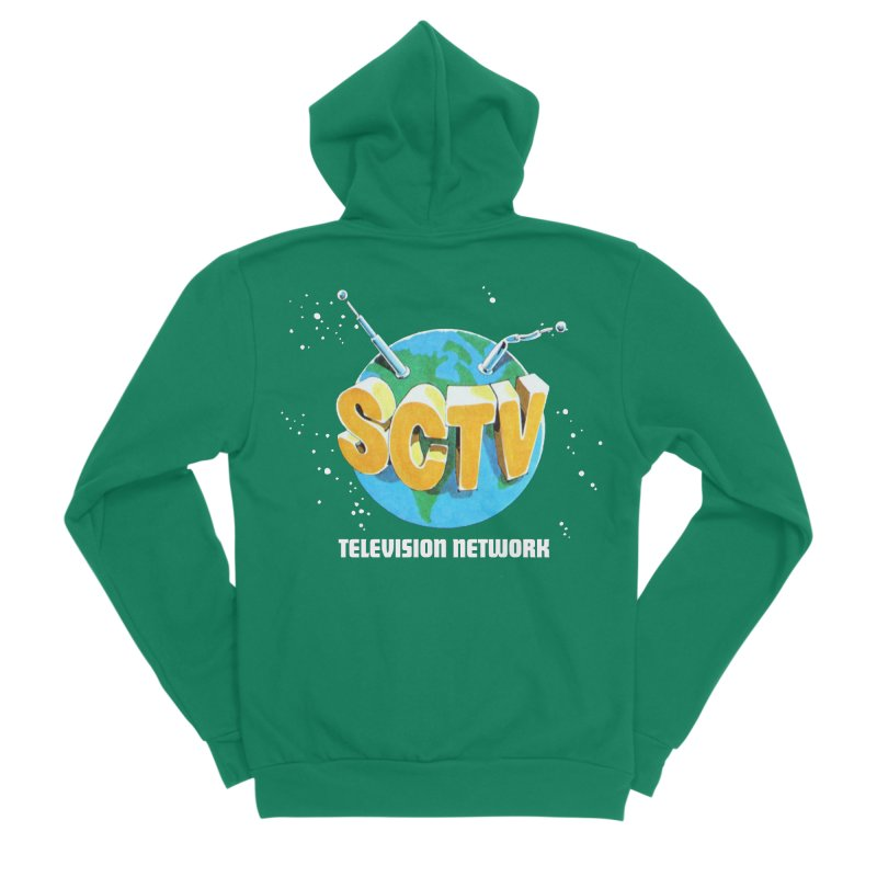 SCTV Global Men's Sponge Fleece Zip-Up Hoody by The Second City