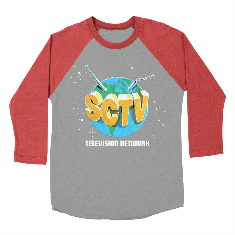 SCTV Global Men's Baseball Triblend Longsleeve T-Shirt by The Second City