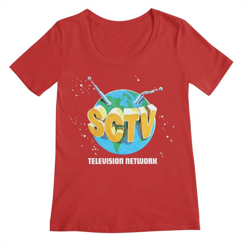 SCTV Global Women's Regular Scoop Neck by The Second City