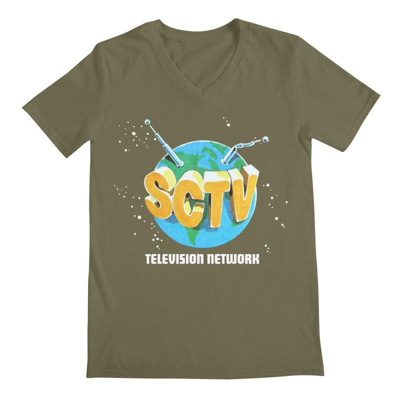 SCTV Global Men's Regular V-Neck by The Second City