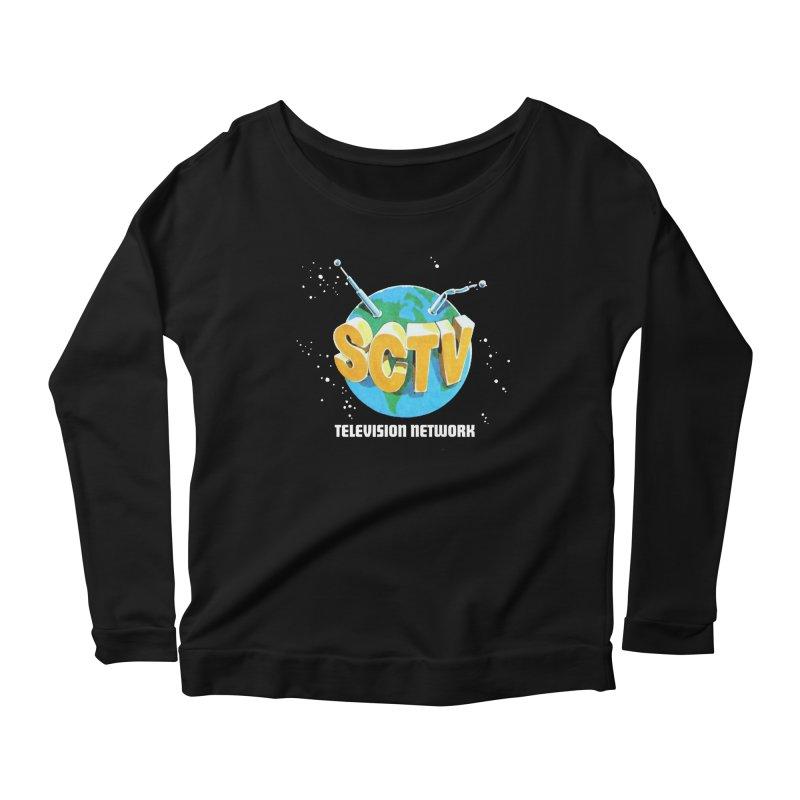 SCTV Global Women's Scoop Neck Longsleeve T-Shirt by secondcity's Artist Shop