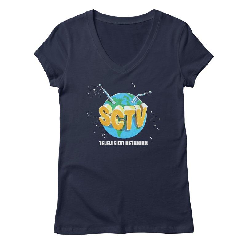 SCTV Global Women's Regular V-Neck by secondcity's Artist Shop